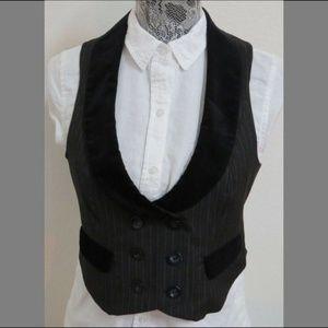 Sz 4 Black Ann Taylor Womens Suit #48S Vest